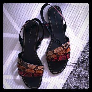 Zara flat python snake print sandals size 42 / 11